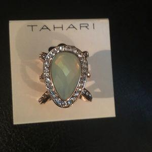 Tahari Jade & Rhinestones Elegant Ring